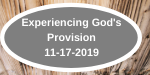 Experiencing God's Provision